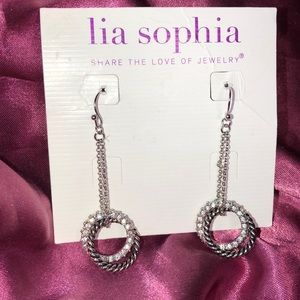 Lia Sophia New Dangle Crystal Earrings